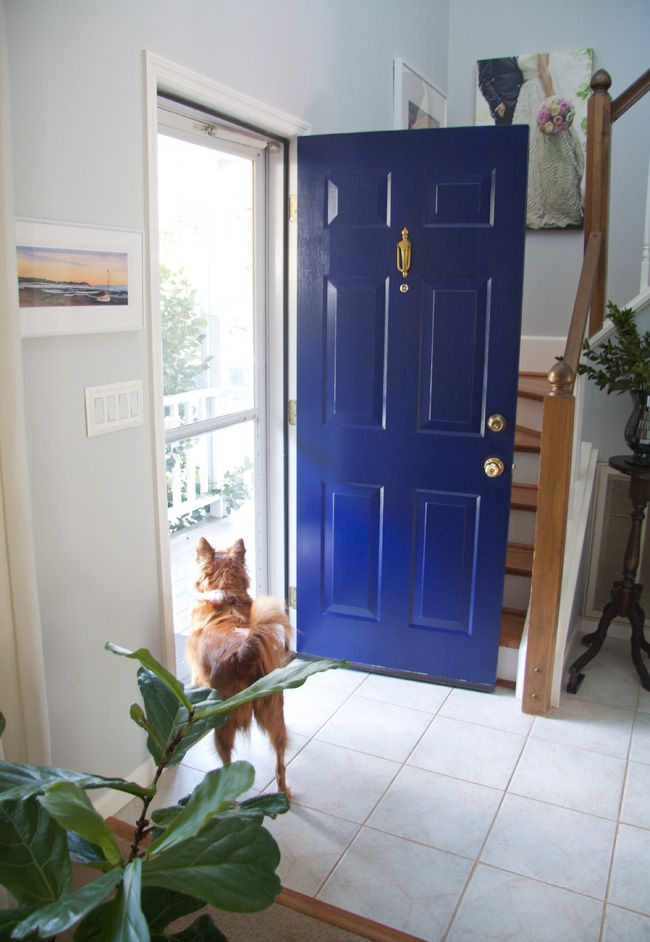 Glitter And Goat Cheese Front Door Painted In Benjamin