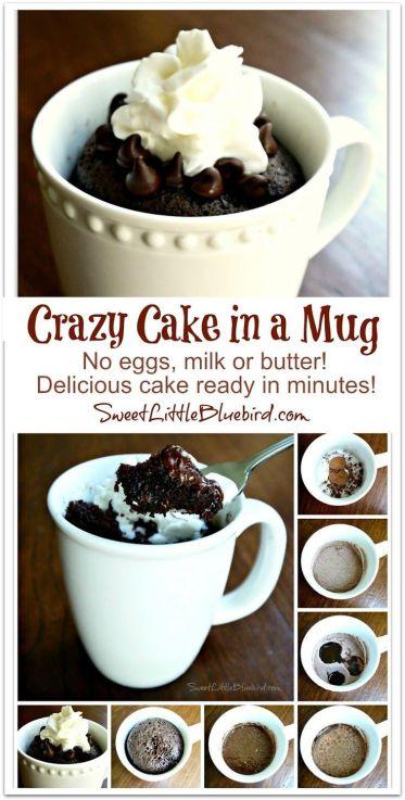 Easy Gooey Nutella Mug Cake