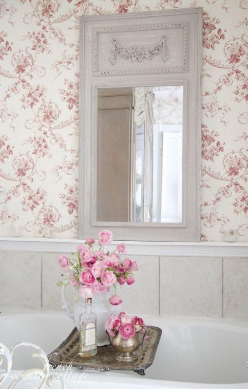 Mirror Mirror On The Wall White Paneling Toile
