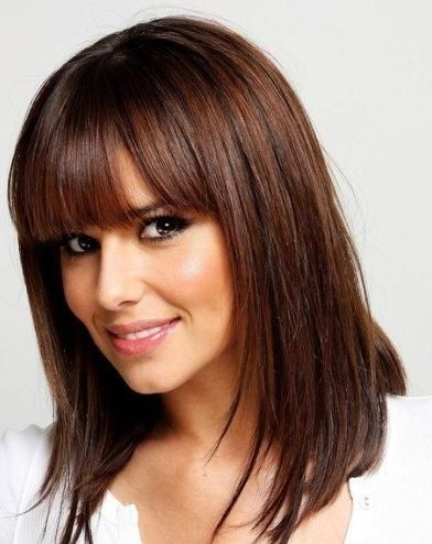 rich chocolate brown hair color brown hair with cut bangs hairstyles and beauty tips hair