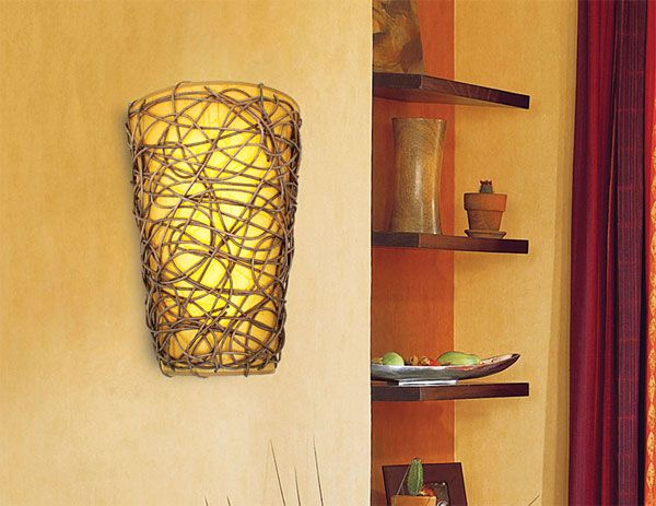 Battery Powered Wicker Wall Sconce With White Light Or Amber Flicker Projects To Try