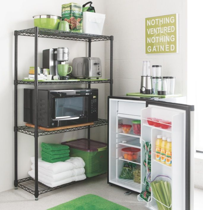 Organize Your Dorm Room Kitchen Area With Essential Items Back To Class Pinterest Dorm