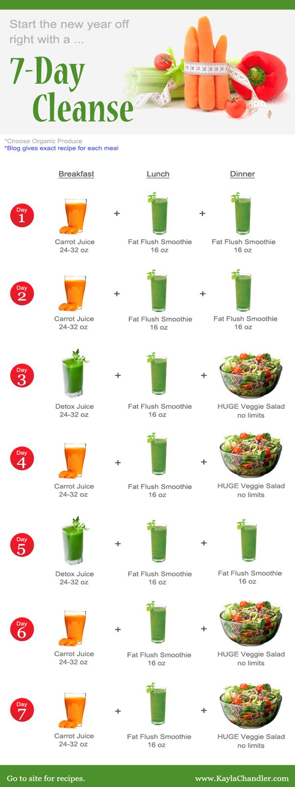 Start the New Year Off Right with a 7-Day Detox Cleanse (and lose weight!) | Kayla Chandler
