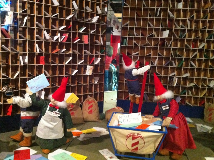 Santas Helpers In The Mailroom Santas Dollhouse And