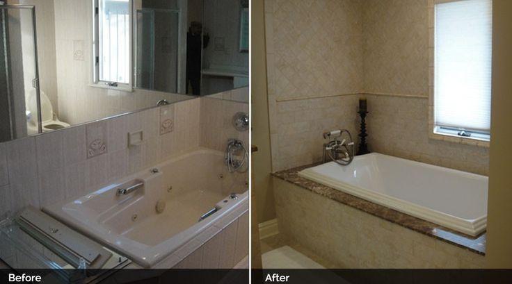 Before And After Kohler Tub Dark Emperador Marble Tub