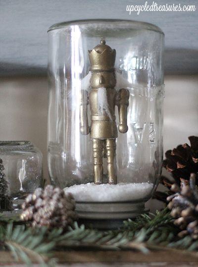 DIY Mason Jar Snow Globes | Creative, Gifts and Masons