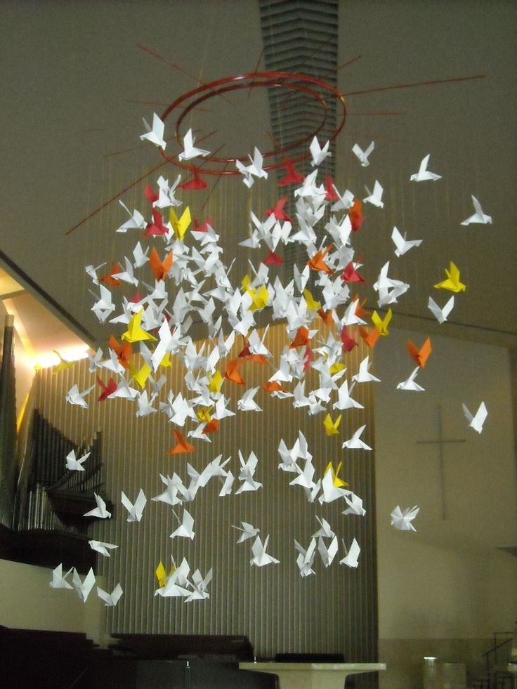 Origami Doves This Weekend Pentecost And My Mom