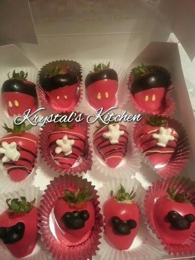 Mickey Mouse Themed Chocolate Covered Strawberries