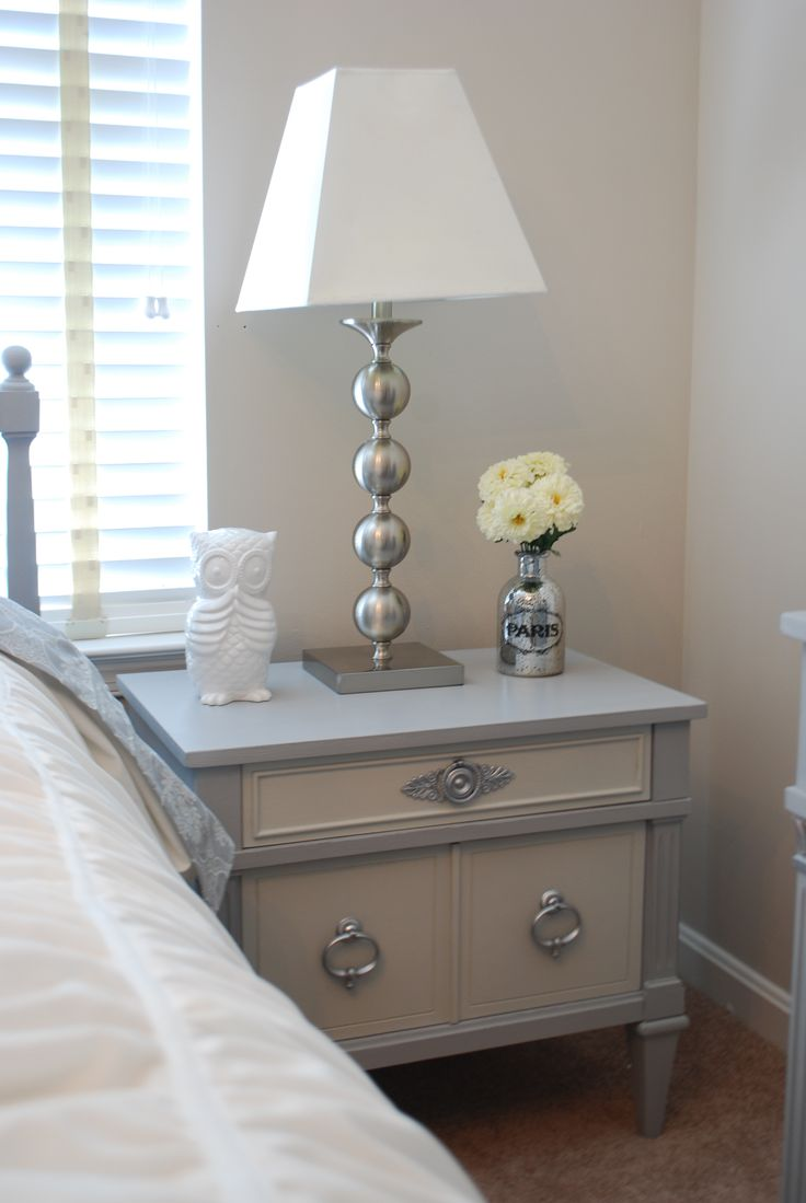 Before And After Vintage Nightstand Painted With Annie