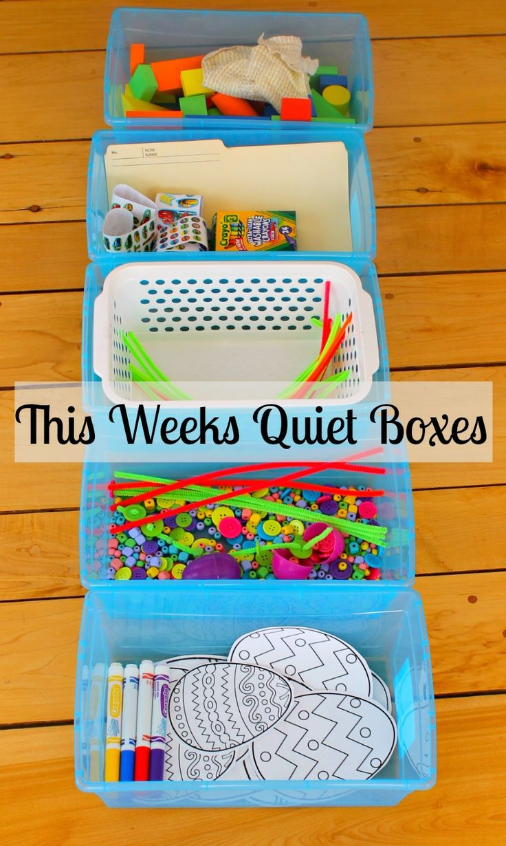 These quiet boxes are simple and perfect for preschoolers. Great busy boxes for rest time, to beat the