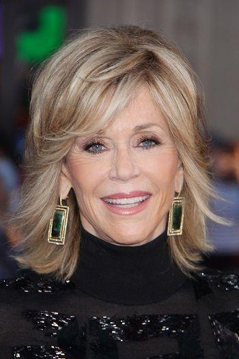 Jane Fonda Long Celebrity Hairstyles For Women Over 60