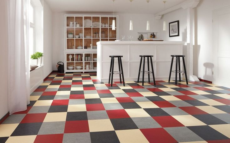 Furniture Black Red Gray Beige Plaid Marmoleum Modular Natural Linoleum Tile Flooring Flor