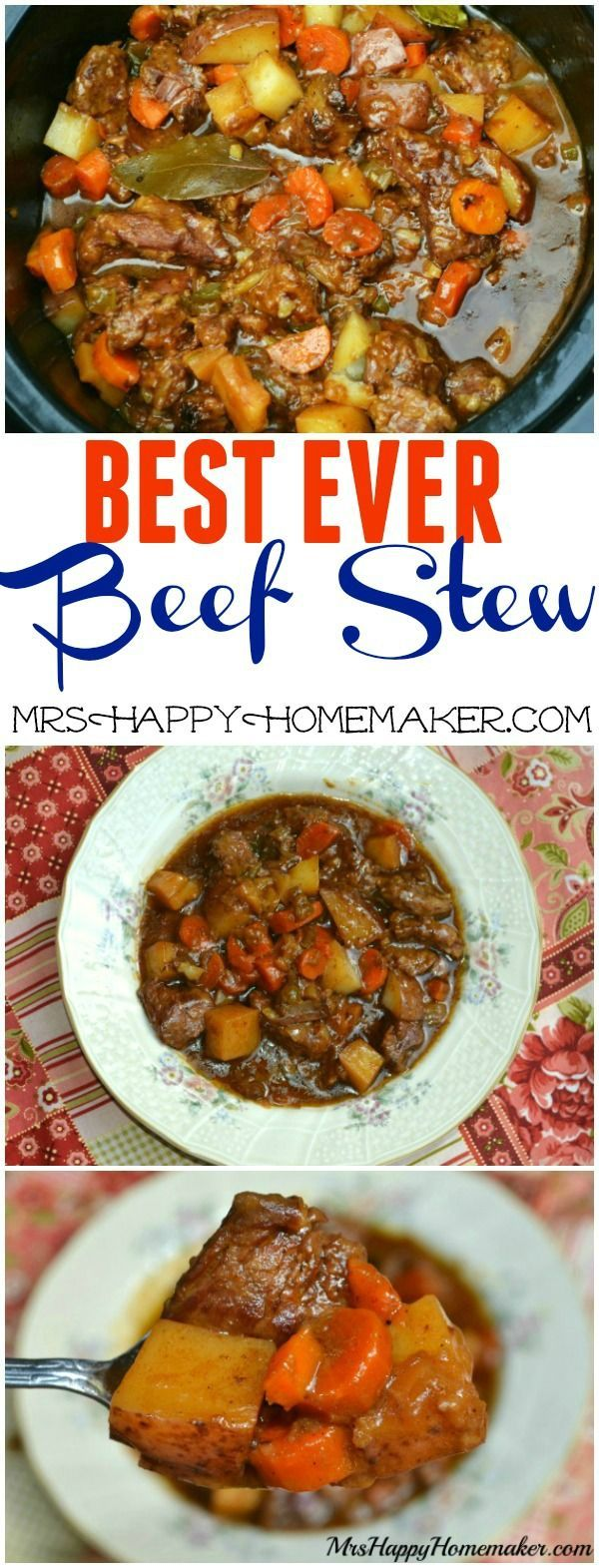 "BEST EVER Beef Stew - ""This is the #1 most popular recipe on my blog & I can see why. It's SO ADDICTIVELY DELICIOUS! Just read the comments on this recipe & see for yourself!"" 