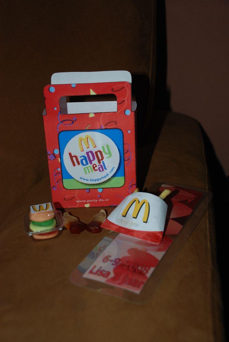 Inhoud McDonalds Traktatie Traktaties En Kado Ideetjes