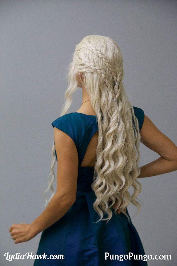 Daenerys Targaryen Costume Wig Long White Blonde By