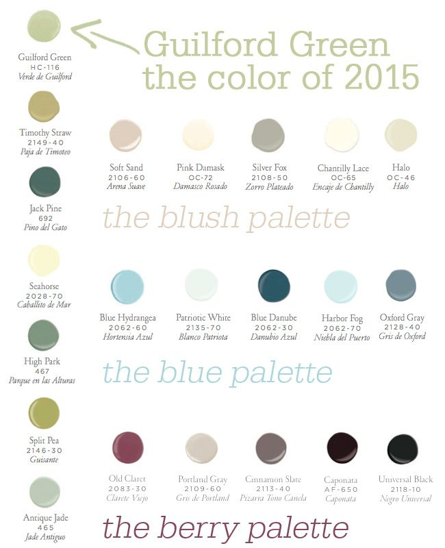 78 images about guilford green benjamin moore 2015 on benjamin moore paint color palette id=58079