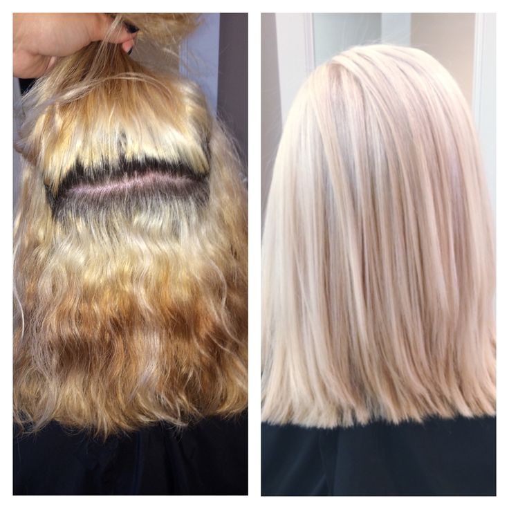 Color Correction Platinum Blonde Achieved By Using Up To