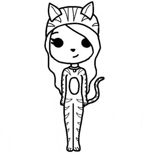 chibi girl template - Google Search | dibujos a blanco y ...