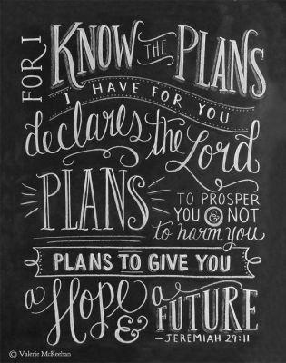 T-shirt verse Scripture Art Jeremiah 2911 Print Bible Verse 11x14 by LilyandVal: