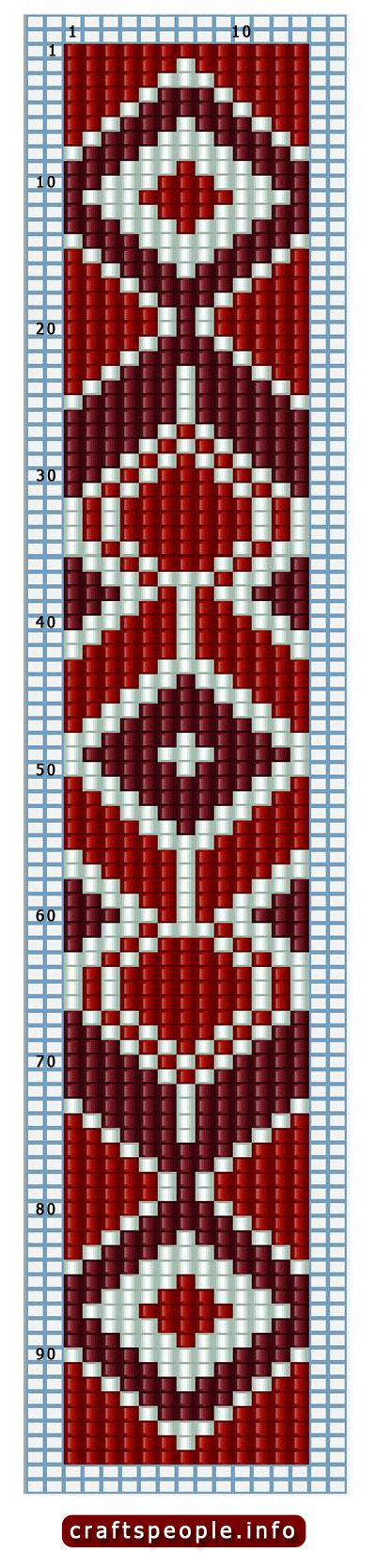Keychain Native Patterns Beaded American