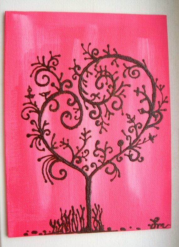 Easy Canvas Painting Ideas Valentines Day Novocom Top