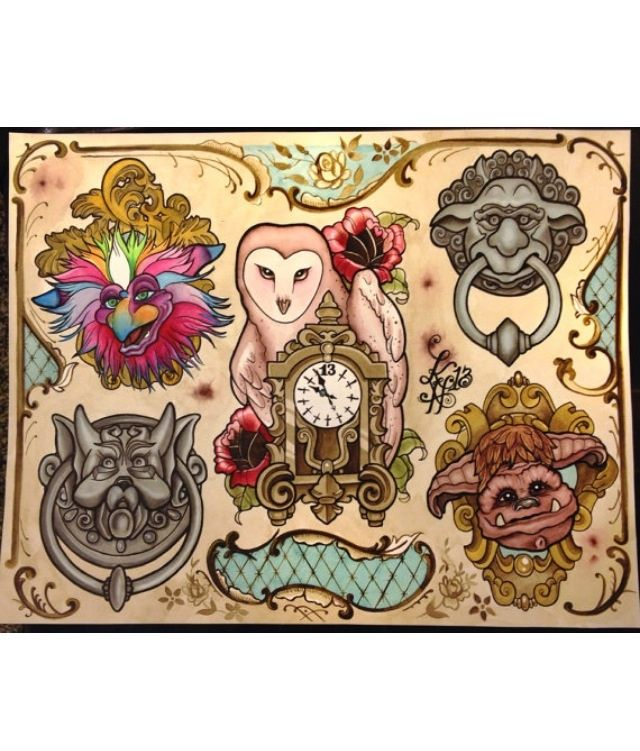 Goblin Tattoo Flash Art