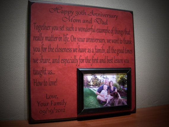 Anniversary Picture Frame Gift, 40th Anniversary, 30th