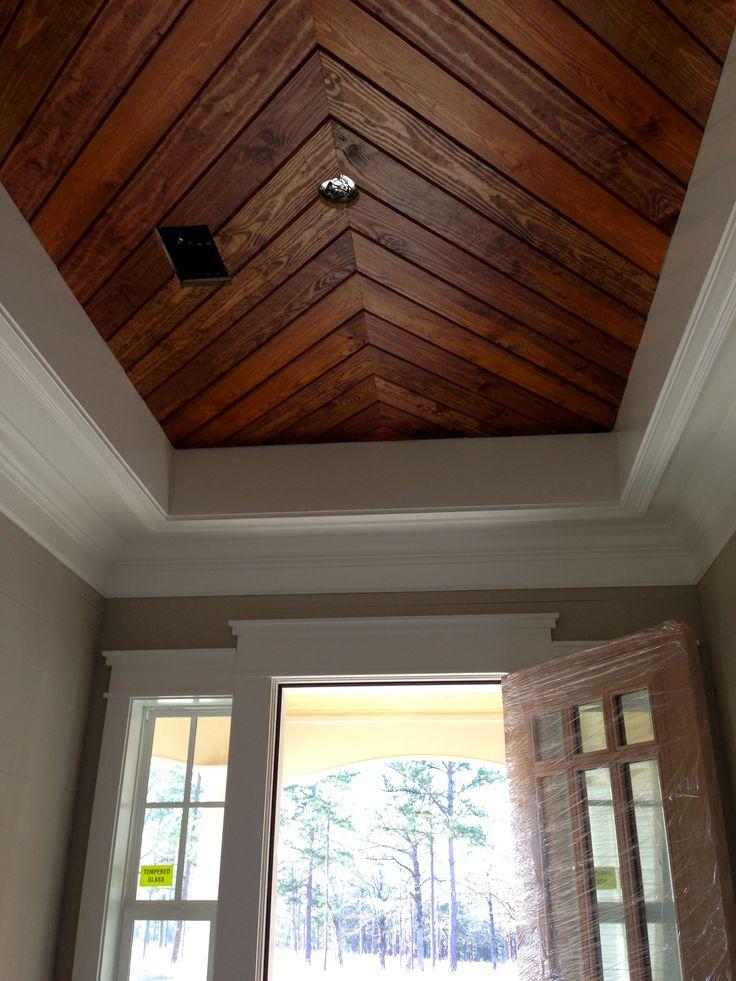 FoyerPenny Width Pine PanelingTongue Groove Ceiling The House That Liz Built Pinterest