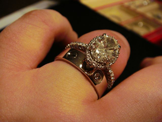 Engagement Ring With White Gold One Diamond Cartier Love