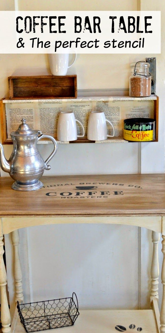 Coffee Station Table And The Perfect Stencil Wwwhomeroad