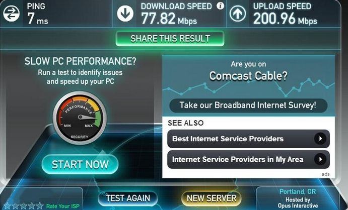Ookla's Speedtest.Net