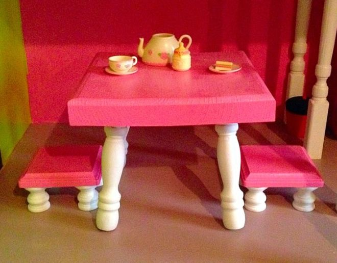 American girl kitchen table and stools diy american