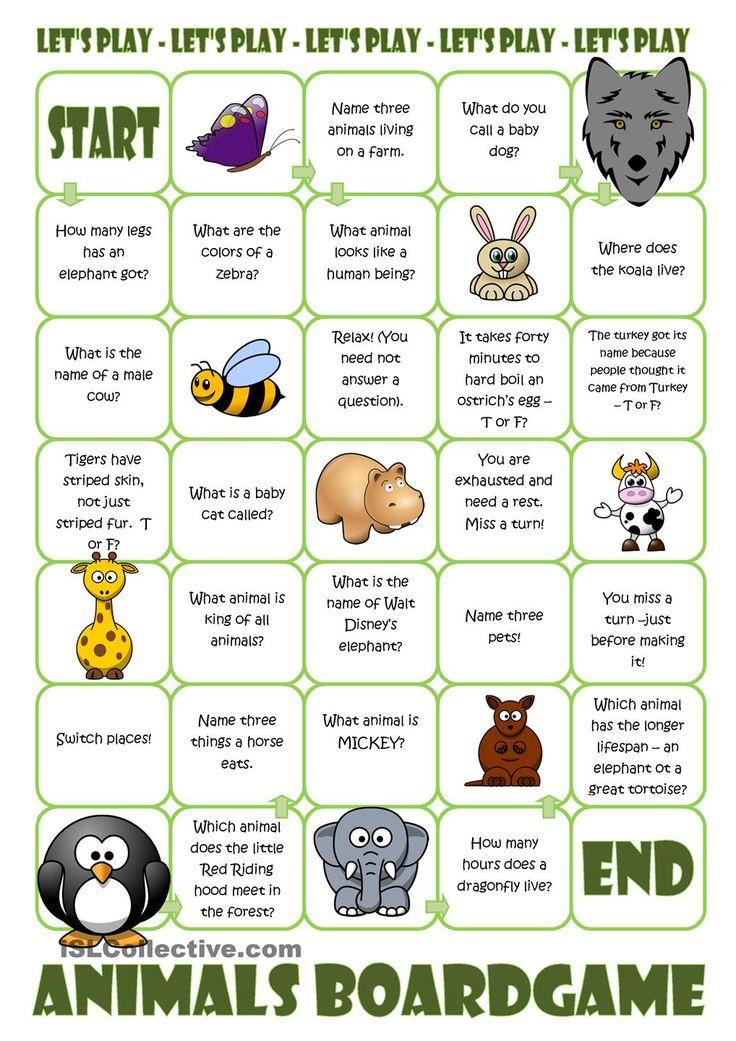 Animals board game animals gor pinterest student