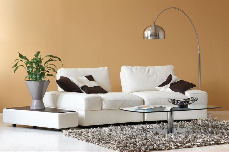 Lissoni White Leather Sectional Kasala Living Rooms