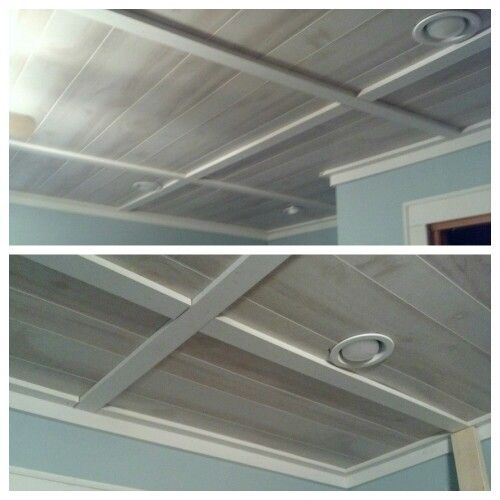 how to make ceiling tiles - Make Drop Ceiling Look Better