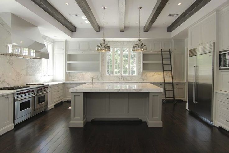Farmhouse Kitchens With Carrera Marble Countertops White