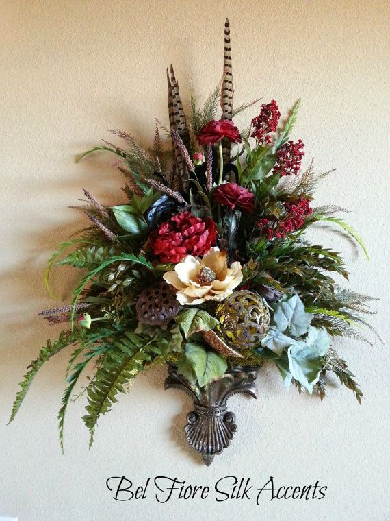 48 best images about sconces on Pinterest | Feathers ... on Decorative Wall Sconces For Flowers Arrangements id=55986