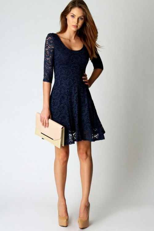 Lovely lace dress, perfect for a night out or dress up with pearl accessories fo