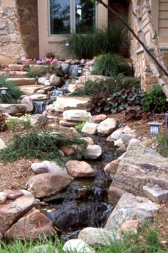 43 Best images about front yard on Pinterest   Gardens ... on Front Yard Pond  id=87219