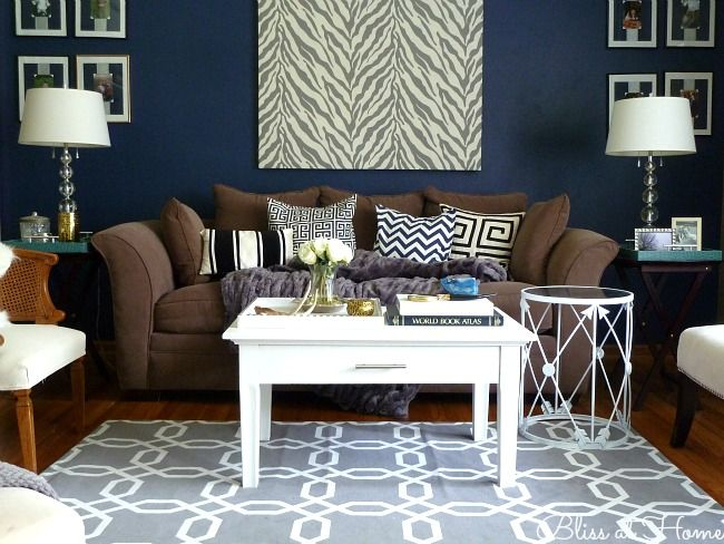 1000+ Images About Living Room Decor (brown, Blue And