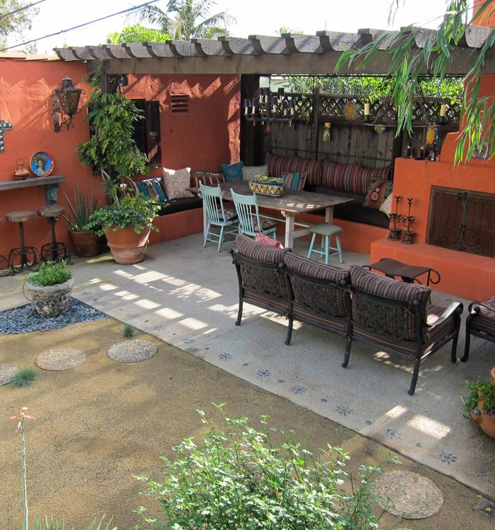 69 best ideas about Mexican Backyard on Pinterest ... on Mexican Patio Ideas  id=38372