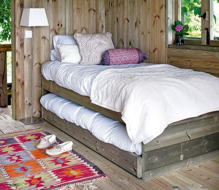 Awesome Rustic Garden Mini House Trundle Bed Tiny