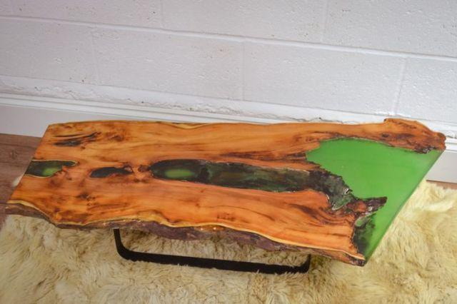 Coffee Tables, Resin Inlay, Live Edge Coffee Table, Slab Coffee, Wood ...