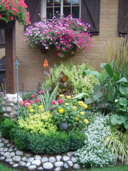 beautiful flower gardens pinterest Beautiful Garden Scene #colour #flowers #plants #nature #