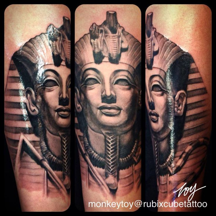 King Tut Forearm Tattoo Designs