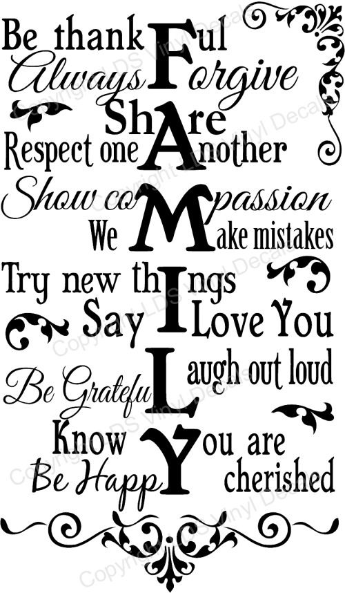 Quotes and Sayings About Family   FAMILY Be thankful Always Forgive Share Respect one Another…
