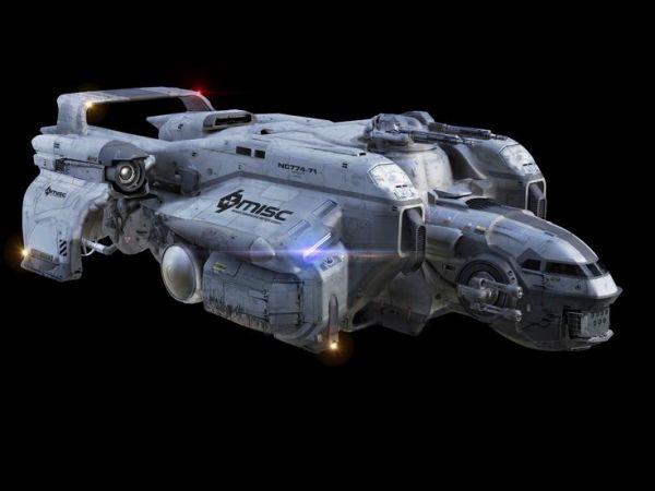 Sci-fi concept space ship- Starfarer Exterior Front v034 ...