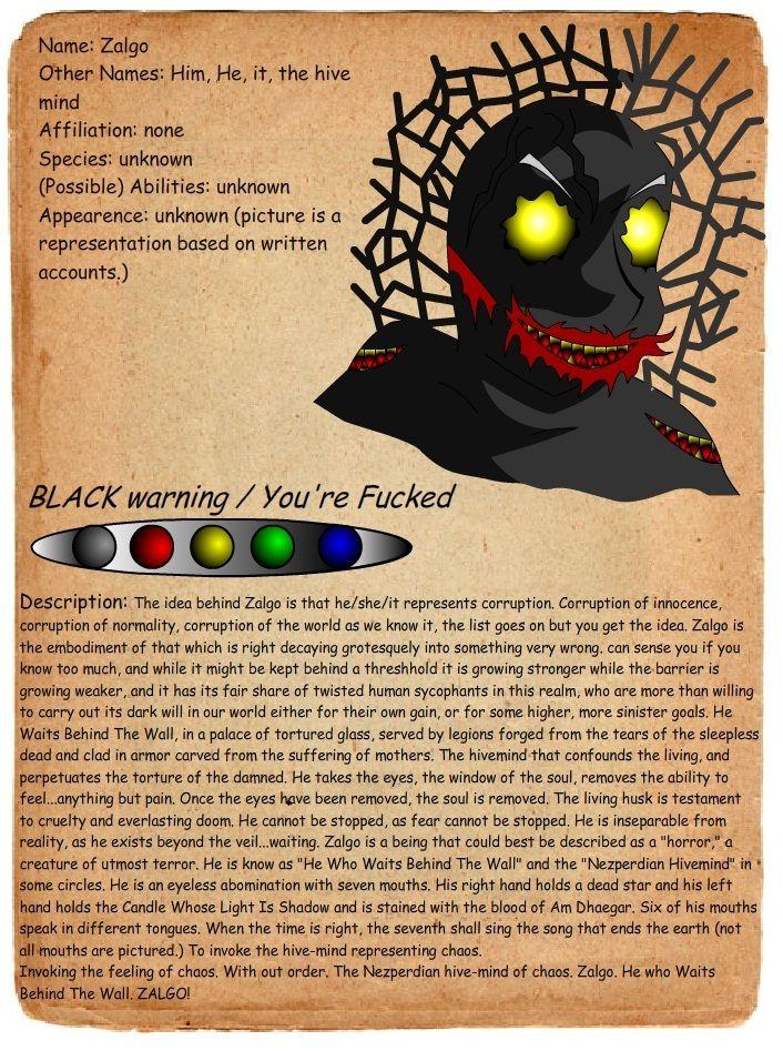 creepypasta profiles journal entry zalgo by on wall street journal login id=86170