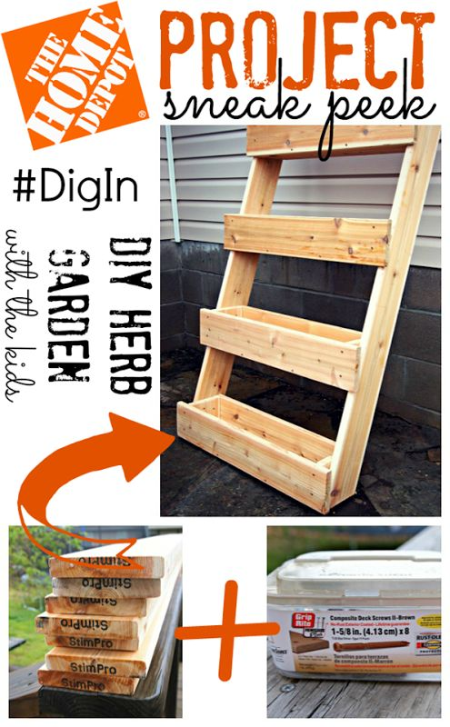 The Home Depot Project Sneak Peek {DIY Herb Garden} #DigIn. Id love to have one