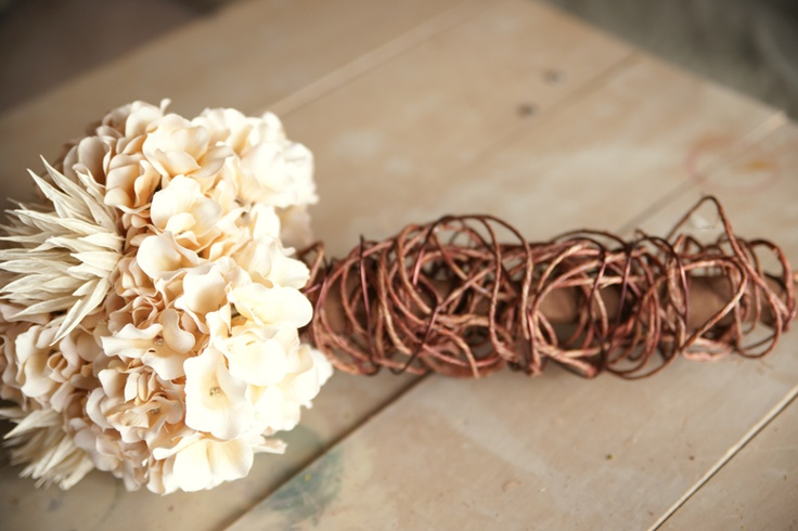 DIY rustic wedding bouquet